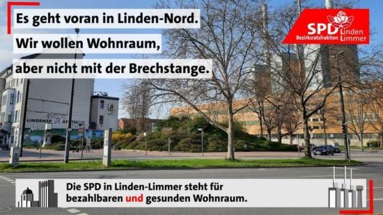 Es geht voran in Linden-Nord. Wir wollen Wohnraum, aber nicht mit der Brechstange. Die SPD in Linden-Limmer steht für bezahlbaren und gesunden Wohnraum.