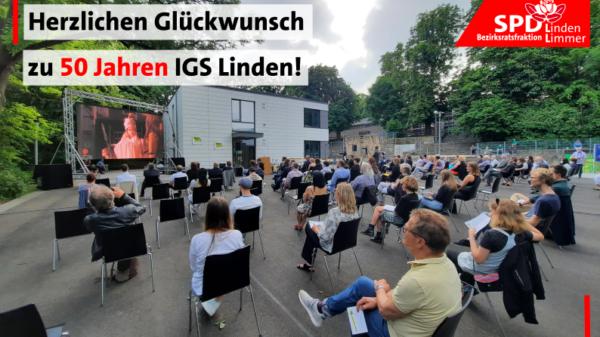 Herzlichen Glückwunsch zu 50 Jahren IGS Linden!