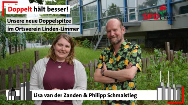 Unsere neue Doppelspitze der SPD Linden-Limmer